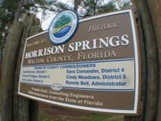 Morrison Springs Park Enterance Sign